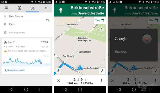 Google Maps 8.2: Höhenkarte und Sprachsteuerung während Navigation
