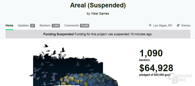 """Crowdfunding für """"Areal"""" eingefroren"""