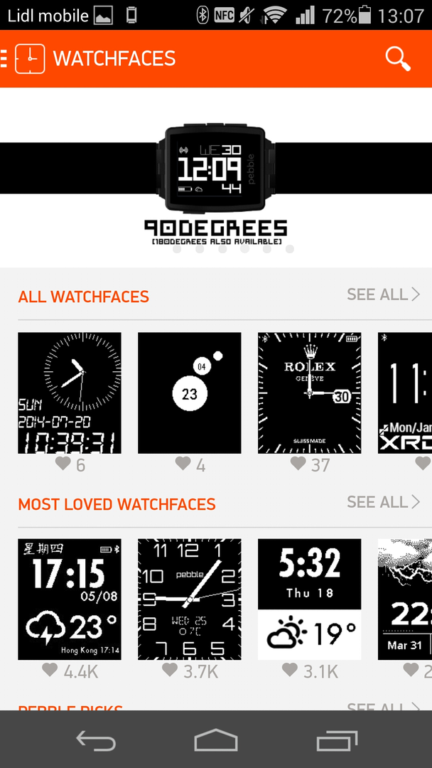 Pebble-App Watchfaces