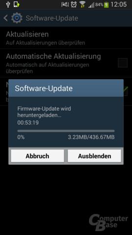 Das Update ist rund 440 MB groß