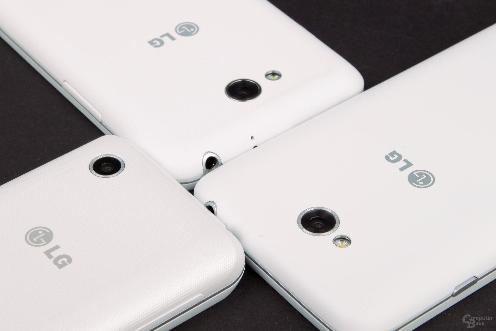 LG L40, L70 und L90 Rückseite und Kamera