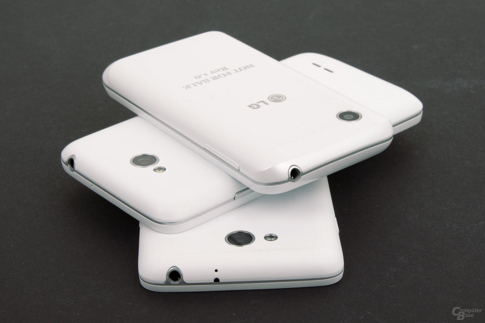 LG L90, L70 und L40 Rückseite