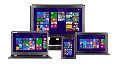 Windows auf verschiedenen Plattformen