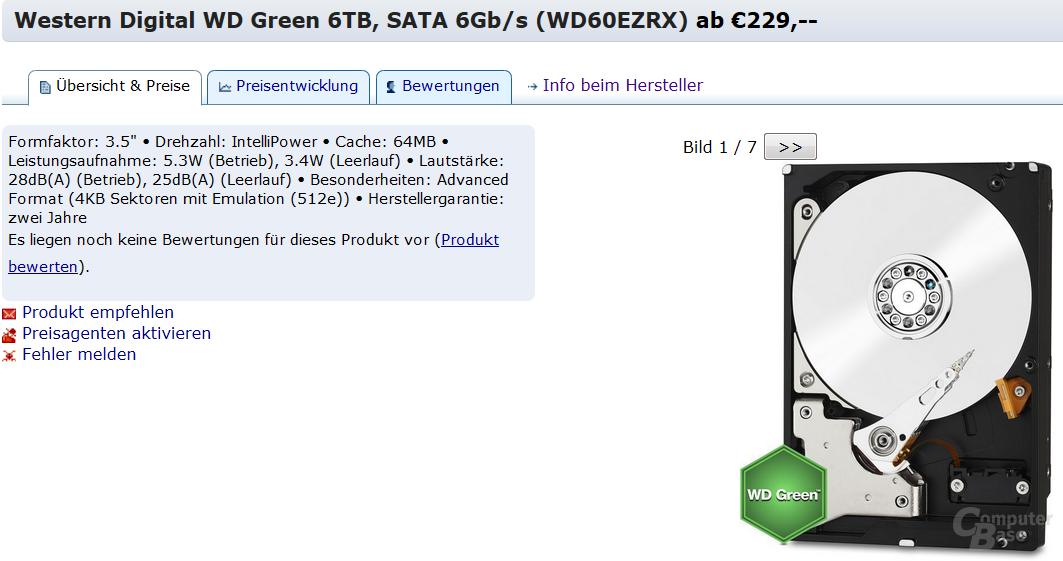 WD Green mit 6 TB im Preisvergleich