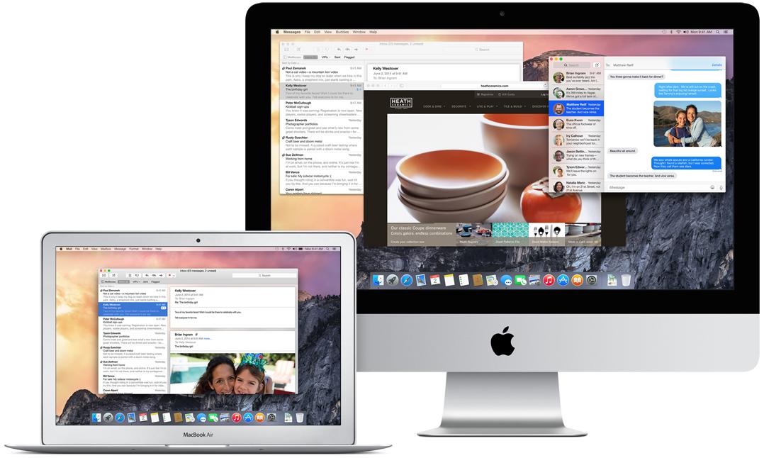 MacBook Air und iMac mit OS X Yosemite