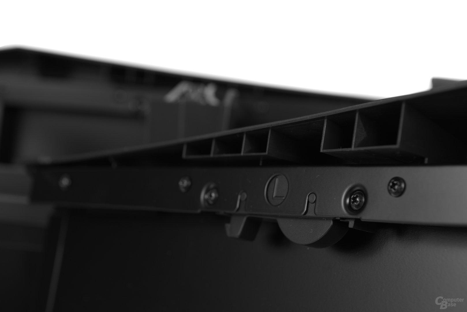 Silverstone Raven 05 - Verschlusssystem der Seitenteile