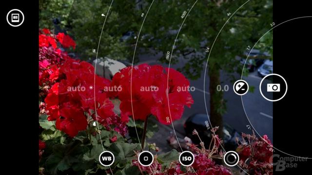 Kamera-App mit Live-Einstellungen