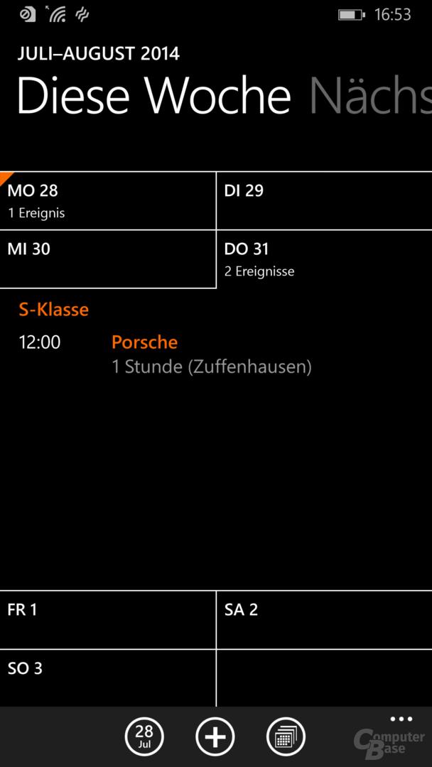 Neue Kalender-App