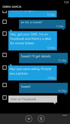 SMS merge & forwarding