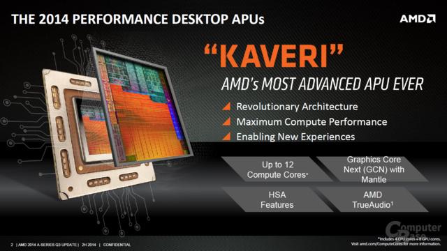 AMD A10-7800 - Die Grundeigenschaften