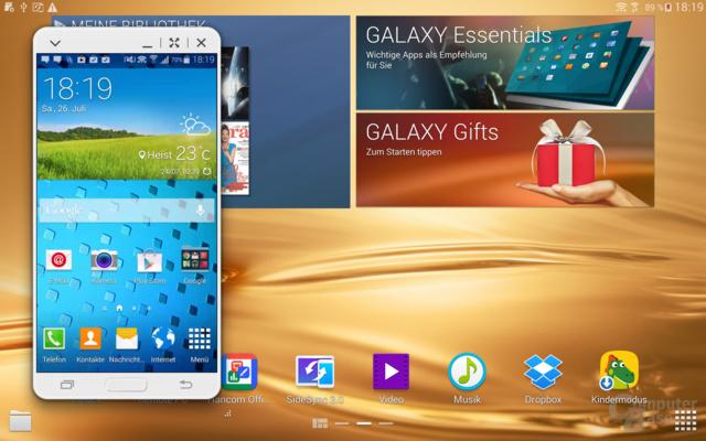Samsung Galaxy Tab S 10.5 im Test – SideSync 3.0