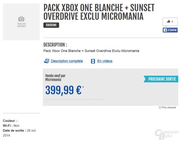 Micromania bietet eine weiße Xbox One an