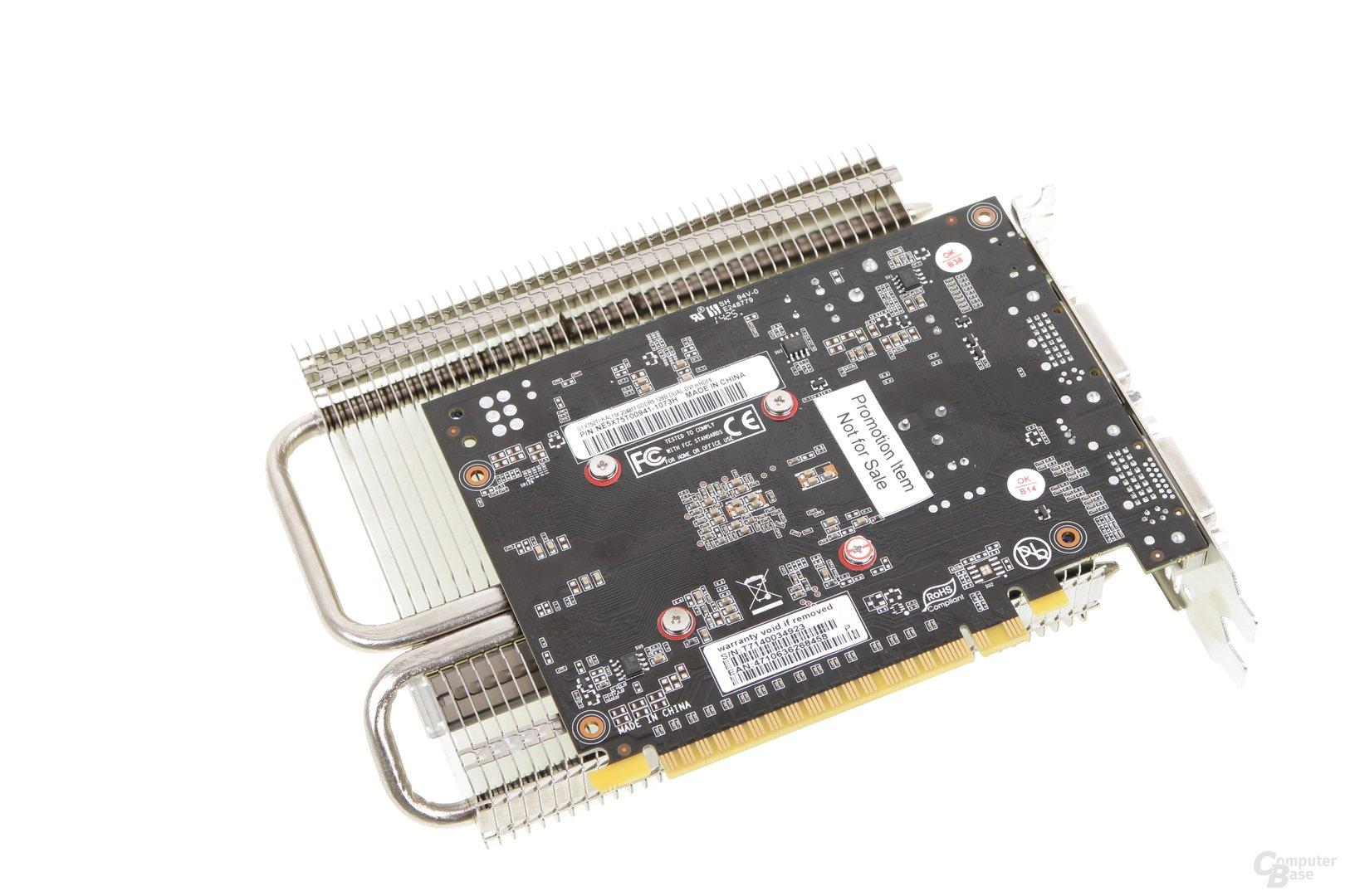 Palit GeForce GTX 750 Ti KalmX - Rückseite