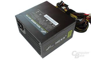 FSP Hexa+ 500 Watt - Deckel mit Typenschild