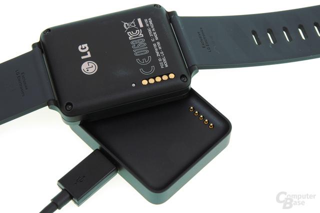 Magnetische Ladeschale der LG G Watch