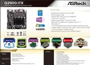 ASRock Q2900-ITX Datenblatt