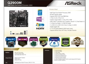 ASRock Q2900M Datenblatt