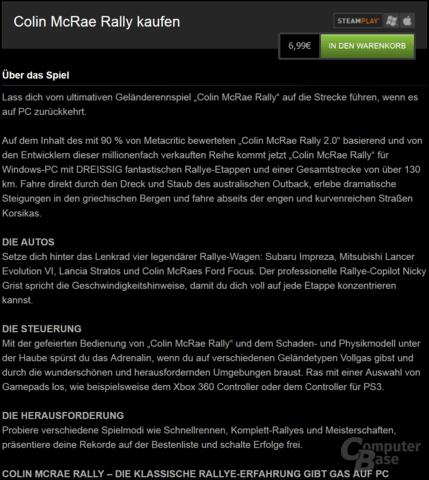 Deutsche Produktseite