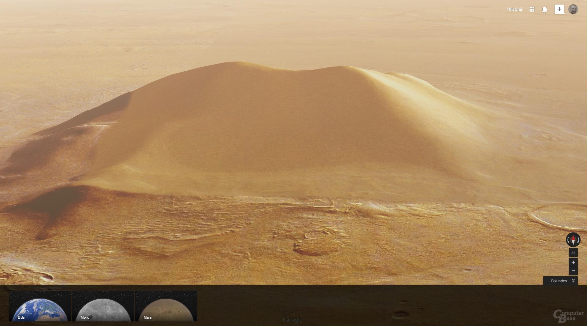 3D-Ansicht des Mars
