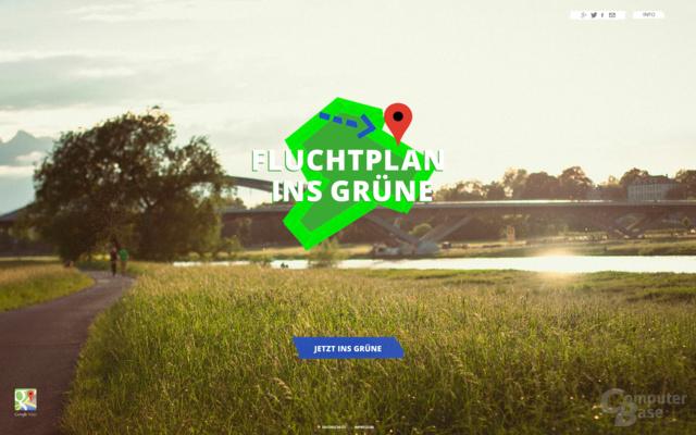Google Fluchtplan ins Grüne
