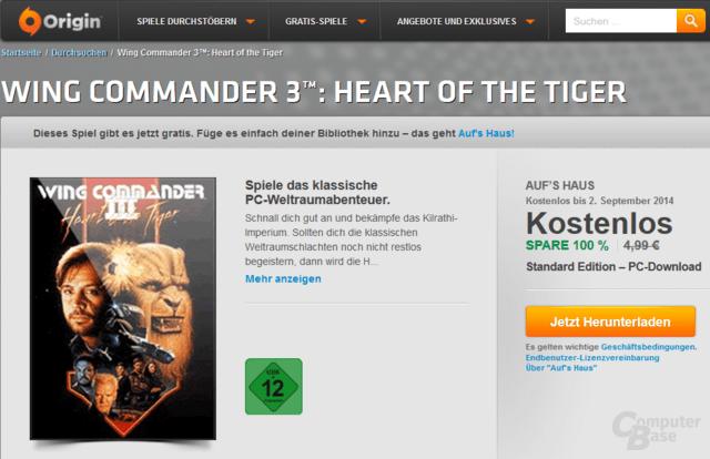 Wing Commander 3 vorübergehend gratis im Origin-Shop