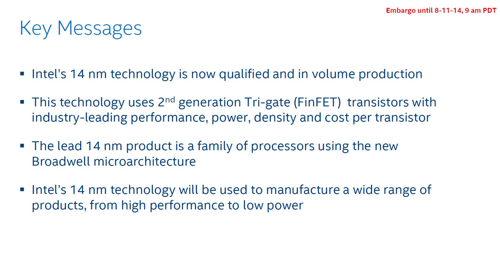 Intels 14-nm-Produktion