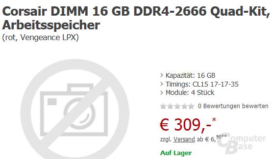 Erste DDR4-Speicherkits erhältlich