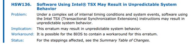 TSX-Problem laut Intel (PDF)