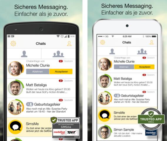 SIMSme für Android und iOS