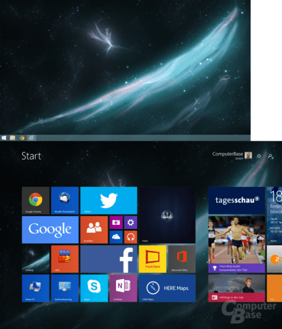 Windows 8.1 auf zwei Monitoren