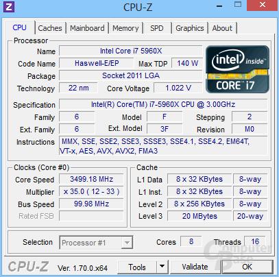Intel Core i7-5960X Extreme Edition