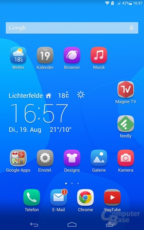 Android 4.2 mit Emotion UI 2.2