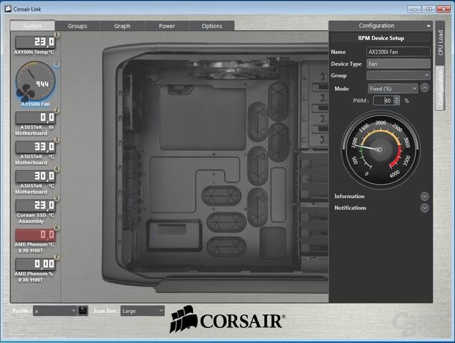 Corsair Link – Lüftersteuerung