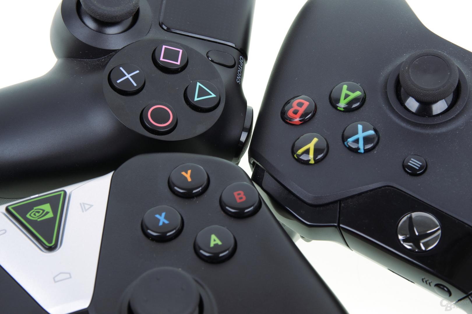 Shield Tablet, PS4 und Xbox One – Controllervergleich