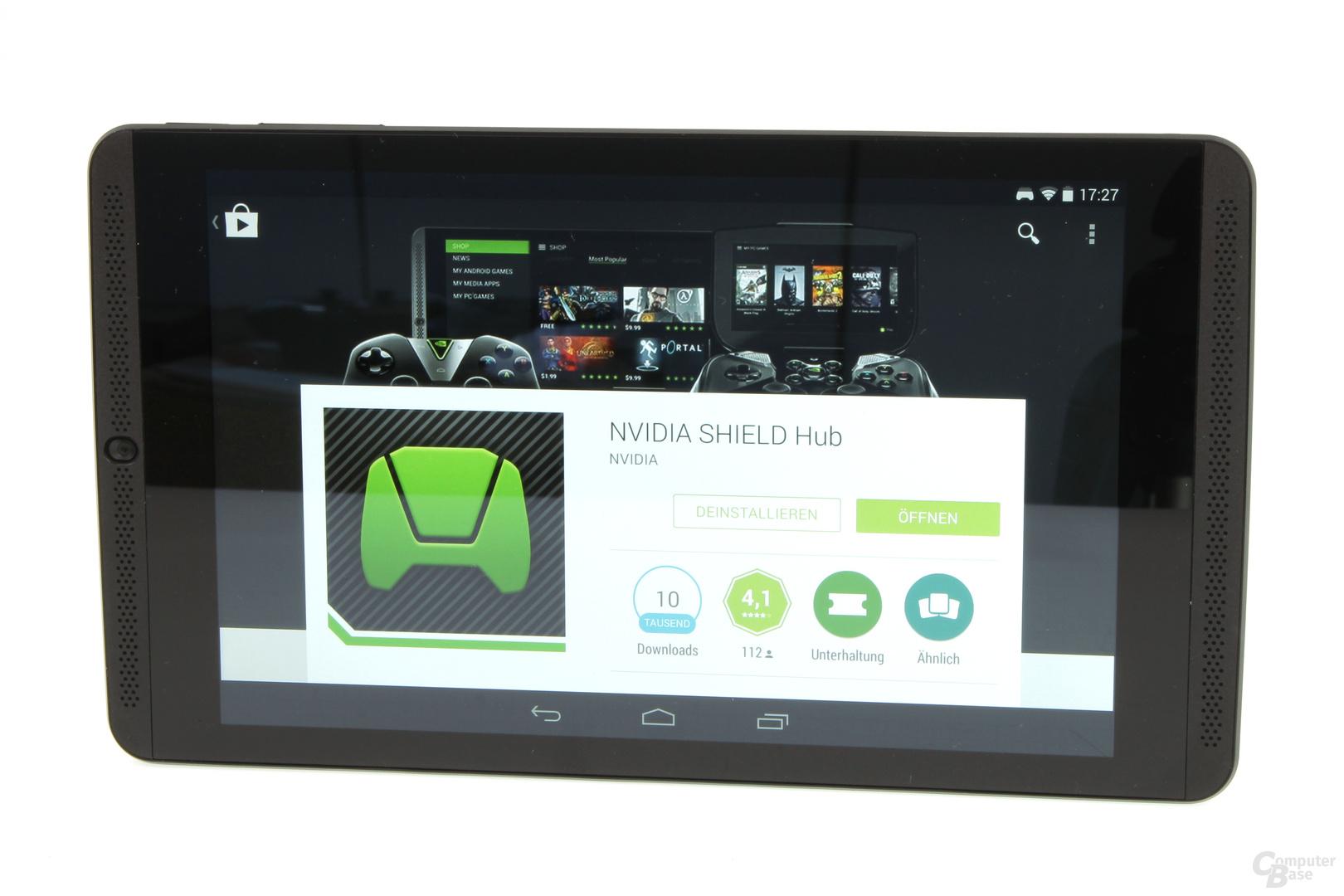 Nvidia Shield Tablet - angeschaltetes Display