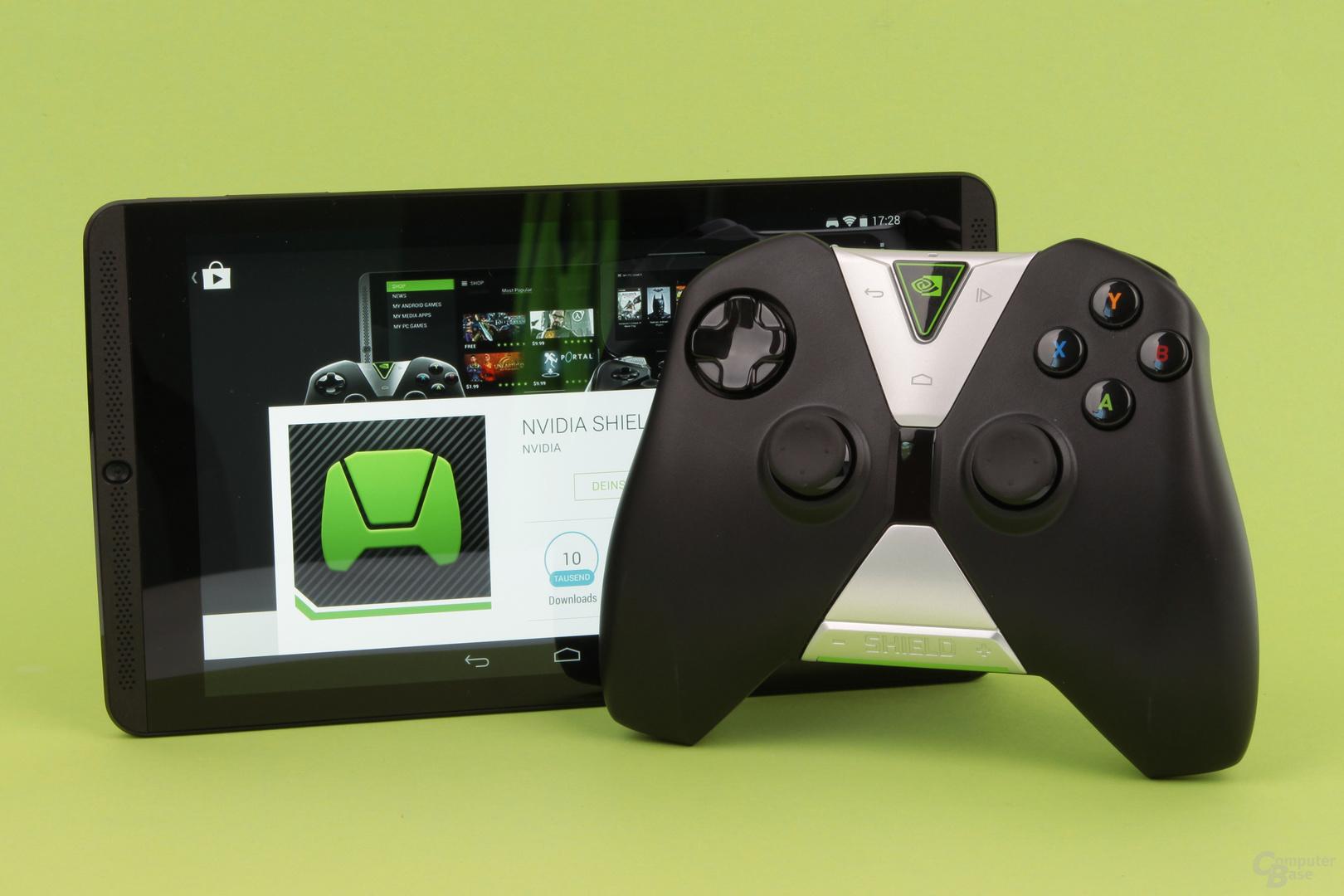Shield Tablet und Controller