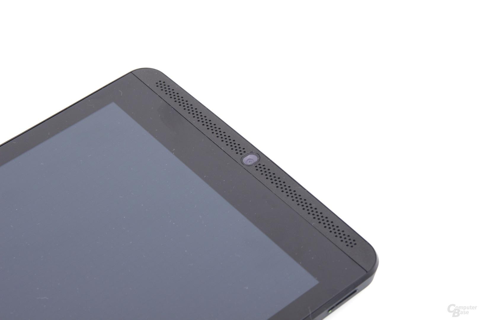 Nvidia Shield Tablet - Lautsprecher und Kamera