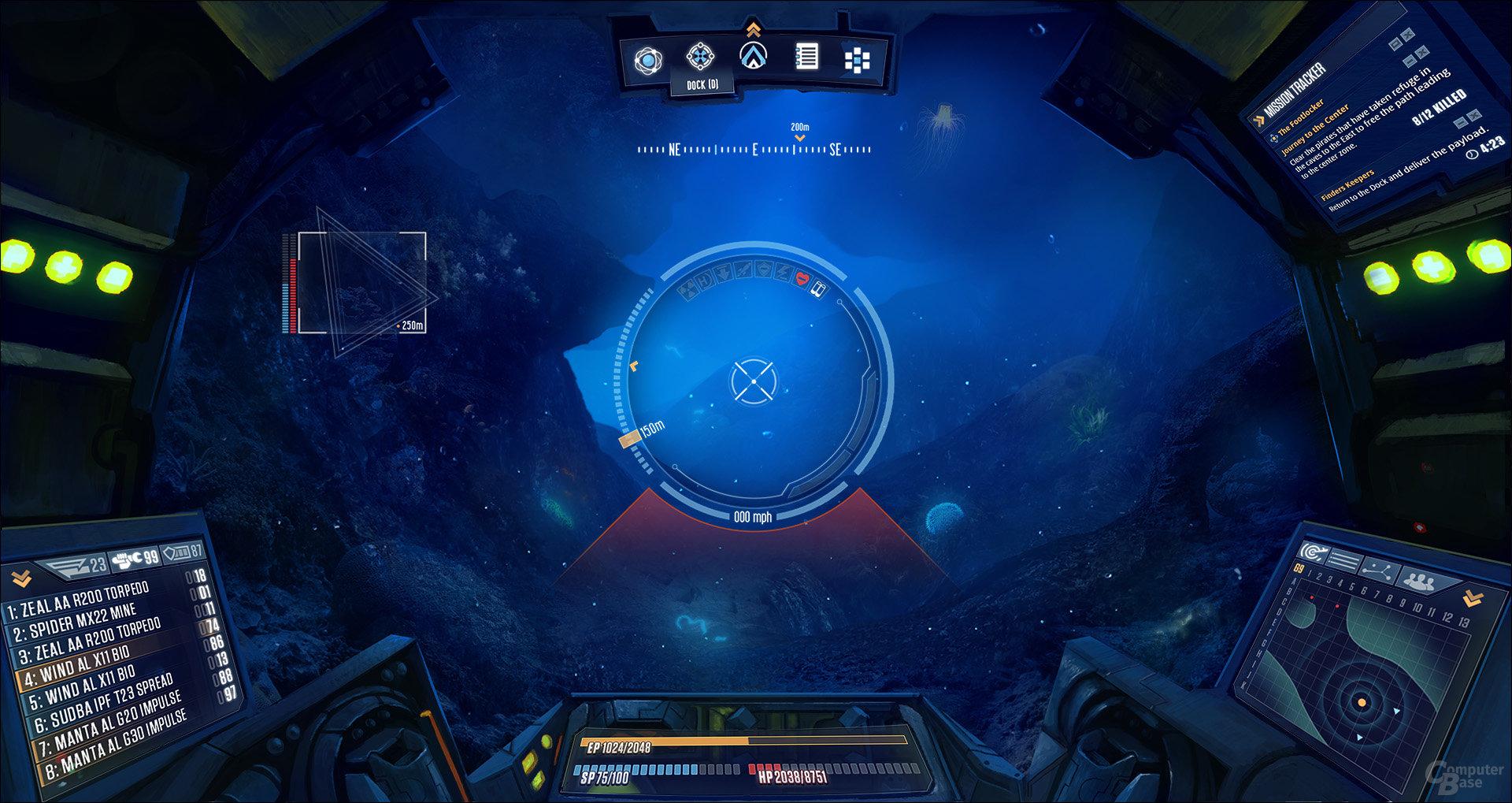 Aquanox: Deep Descent - Cockpit-Ansicht