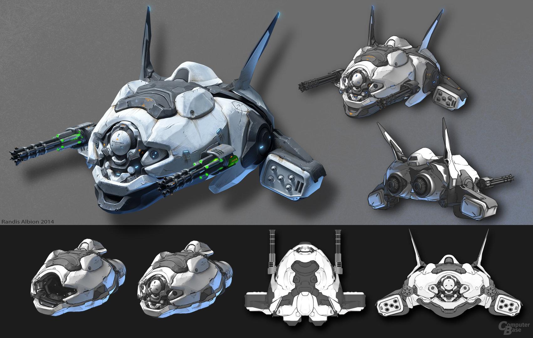 Aquanox: Deep Descent - Schiffskonzept von Randis Albion