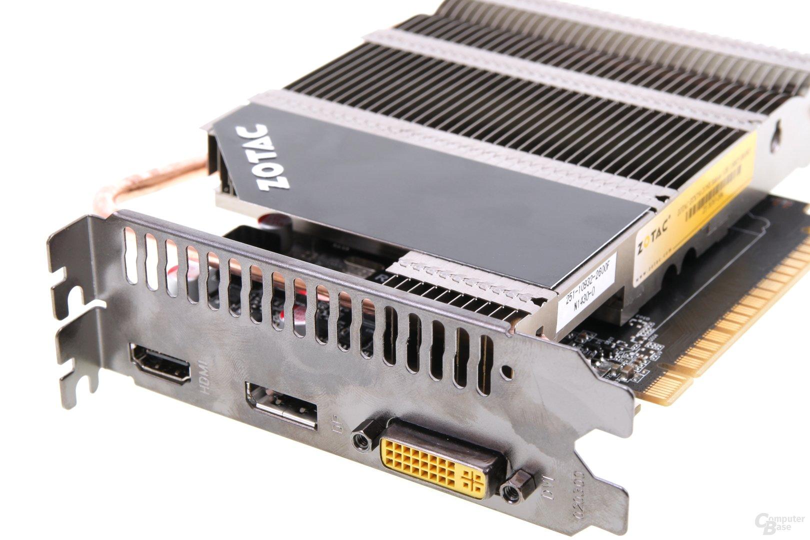 Zotac GeForce GTX 750 Zone - Anschlüsse