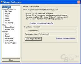 Winamp 5 Einstellungen - Winamp Pro