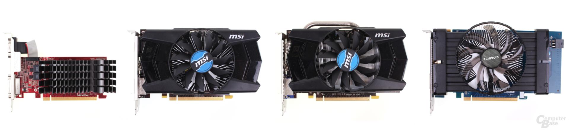 Gnstige Grafikkarten Im Test 19 Amd Und Nvidia Von 2090 Euro Msi Geforce Gt 630 1gb Ddr3 Vlnr Asus R7 240 250 Gddr3