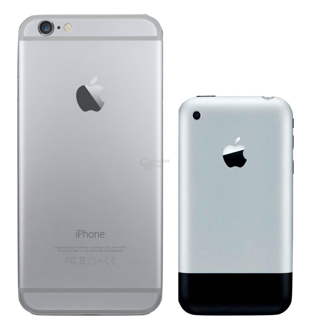 iPhone 6 Plus und das 1. iPhone im Vergleich