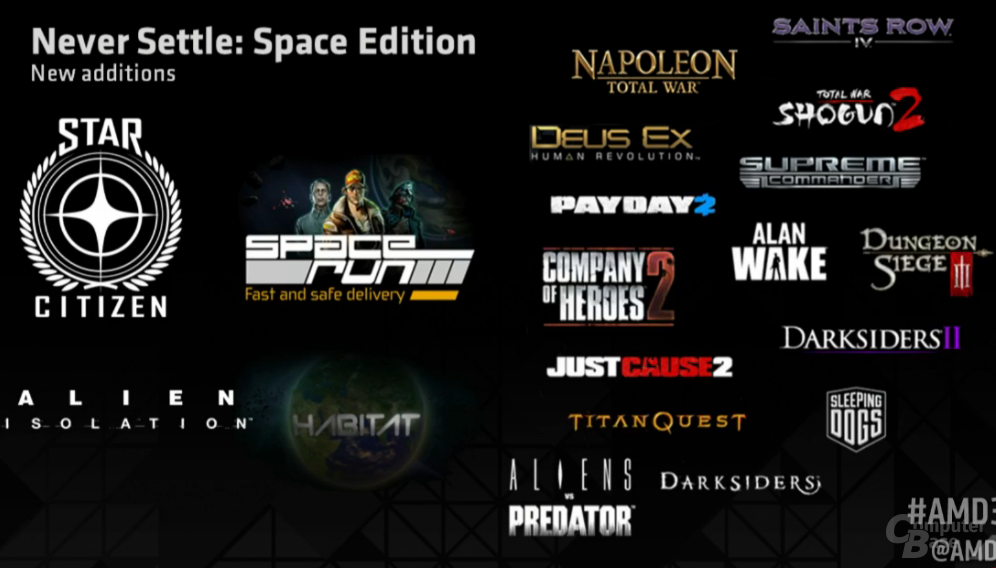 """AMD """"Never Settle Space"""""""