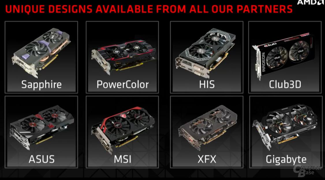 AMD Radeon R9 285 – Partnerkarten