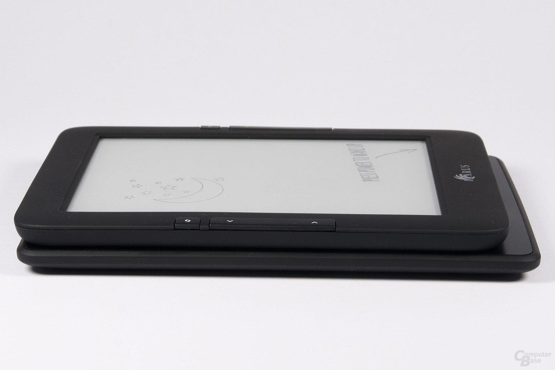 Größenvergleich Illumina E653 und Kindle Paperwhite