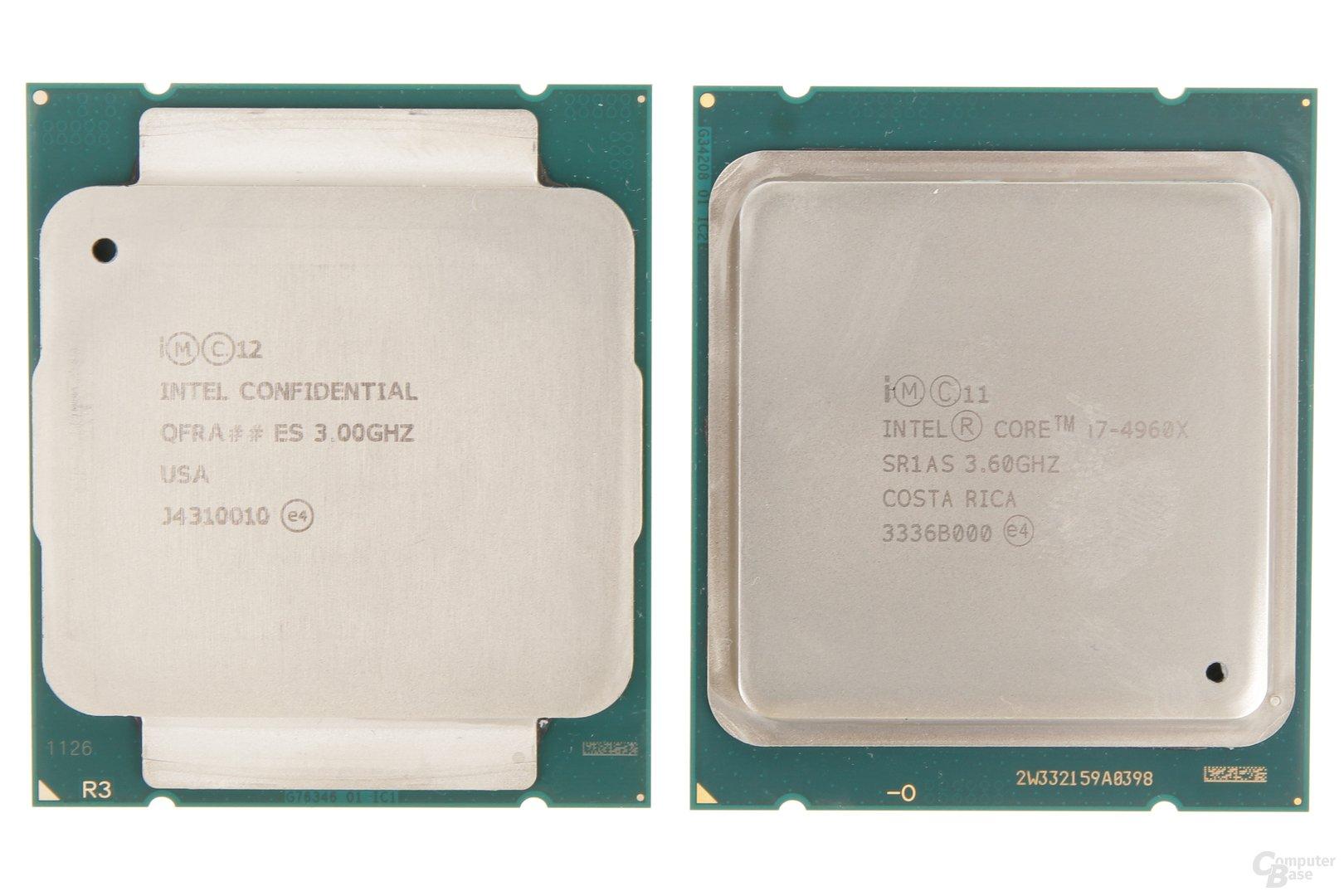 Intel Core i7-5690X (Haswell-E) gegen Core i7-4690X (Ivy Bridge-E)