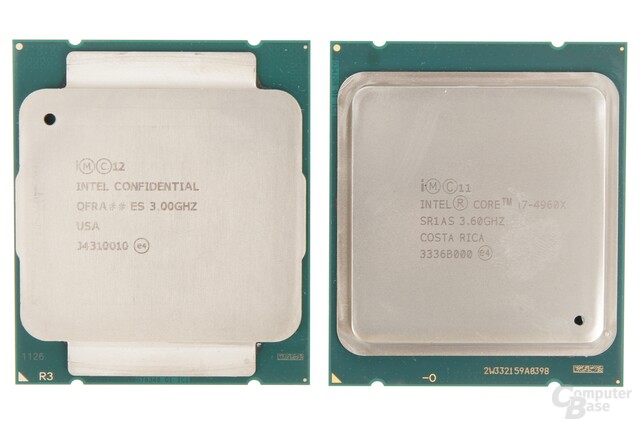 Intel Core i7-5690X (Haswell-E) gegen Core i7-4690X (Ivy Bridge-E)