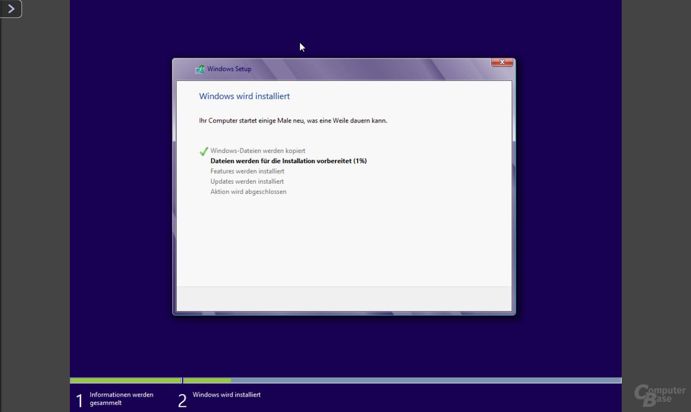 Installation von Windows 8 auf der QNAP TS-451