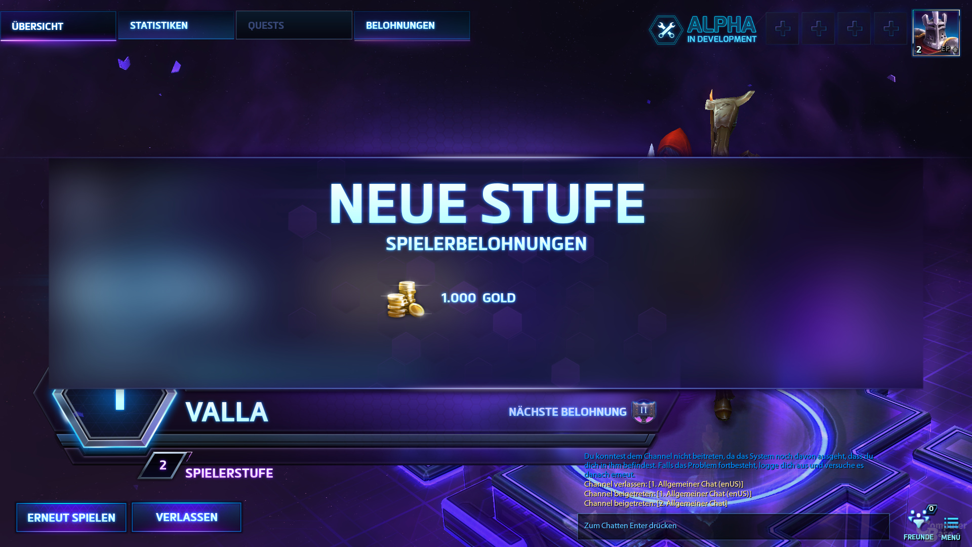 Heroes of the Storm – Stufensystem